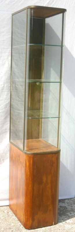 """20: late Art Deco period narrow display cabinet - 67"""" t"""