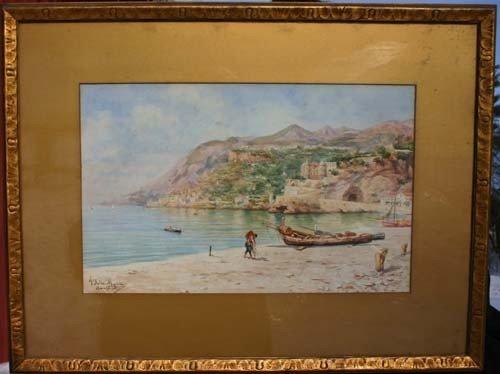 "56: 8 1/2"" x 13 1/2"" s.s. w/c Angelo Dell Mura (1867-19"