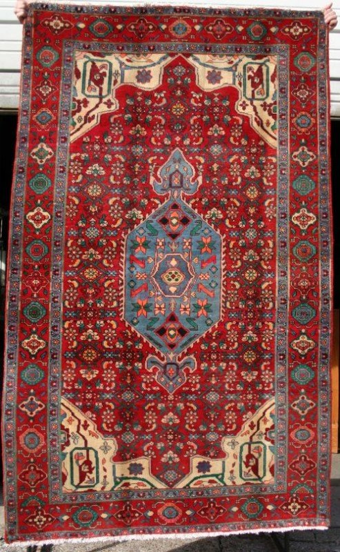 "3: 4'1""x6'9"" semi antique Persian Oriental area rug"