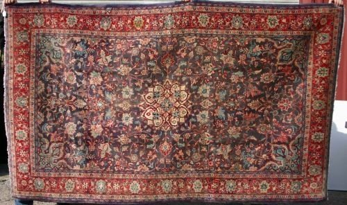 "5: 4'3""x6'2"" antique Persian Oriental Rug"