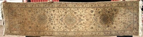"6: 2'7""x10'1"" semi antique Persian Oriental runner on c"