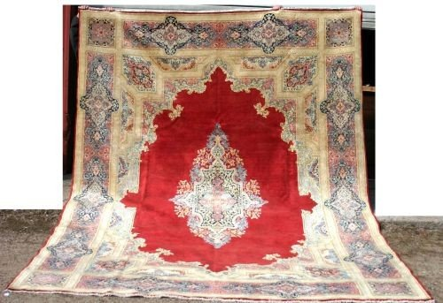 "7: fine 9'7""x13'2"" semi antique Persian Kirman room siz"