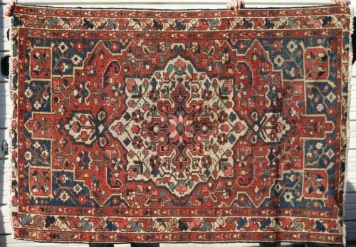"8: 5'2""x9'5"" semi antique Persian Oriental rug"