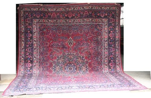 "11: 10'4""x12'9"" semi antique Persian Mashed Oriental Ru"