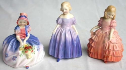 "4: 3 small Royal Doulton figurines: HN 1469 ""Monica""; H"
