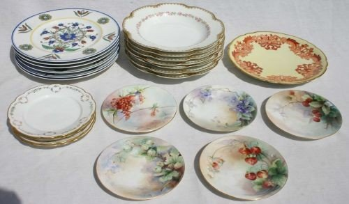14: lot of 24 Limoges plates & bowls incl 2 matching se