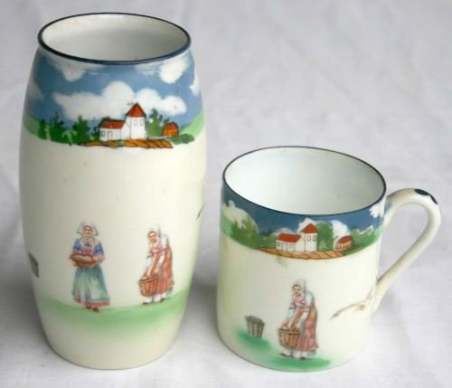 15: lot of 2 Royal Bayreuth porcelain items - a 5 1/2""