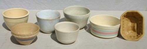 23: lot of 11 stoneware, yelloware & ironware various s