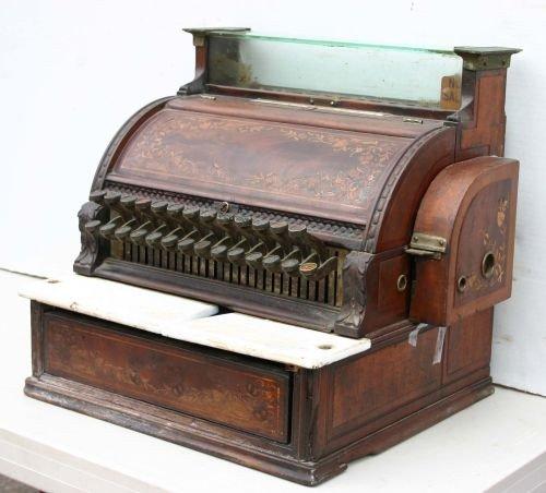 202: late 19thC National cash register model #47 in mah