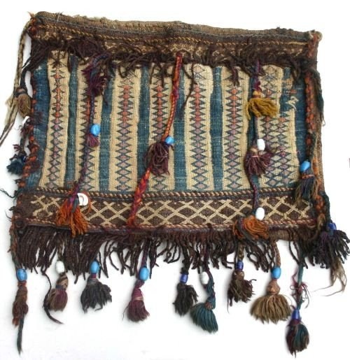 "7: 20""x24"" semi-antique Afghan saddle bag"
