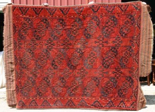 "14: 6'5""x8'9"" Afghan Ersari Oriental Rug"