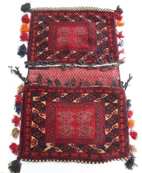 """15: 1'10""""x3'10 Miamana Oriental saddle bag"""