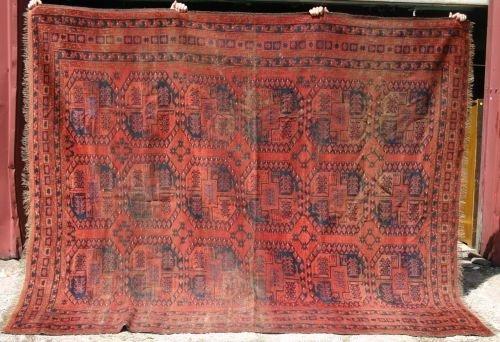 "16: 7'9""x9'4"" Afghan Ersari Oriental rm size rug"