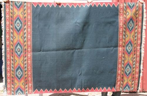 "17: 5'2""x7'11"" flat weave Kilim Oriental rug"