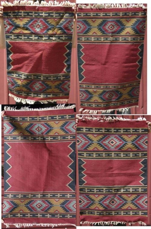 18: lot of 4 flat weave Kilim Oriental mats
