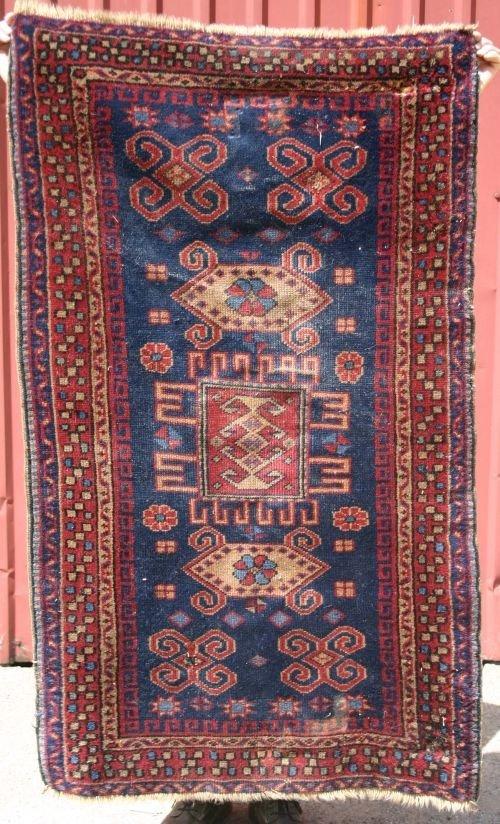 """19: 2'10""""x4'10"""" semi-antique Turkish area rug"""