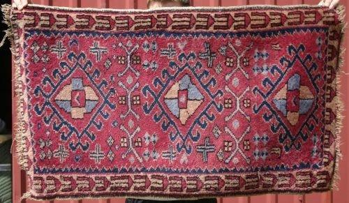 "22: 2'x3'5"" semi-antique Turkish mat"