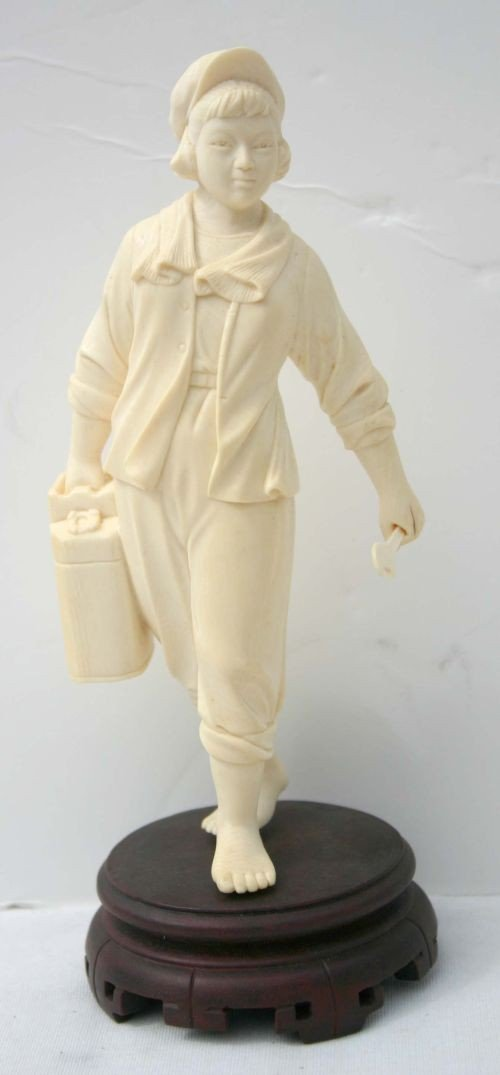 158: Chinese Cultural Revolution ivory carved figure of