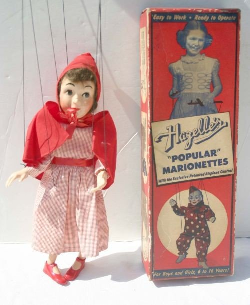 "5: ca 1950's Hazelle's hard plastic ""Little Red Riding"