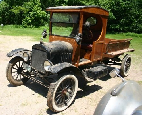 "38A: ca 1920 Ford Model T ""Woody"" pick up truck"