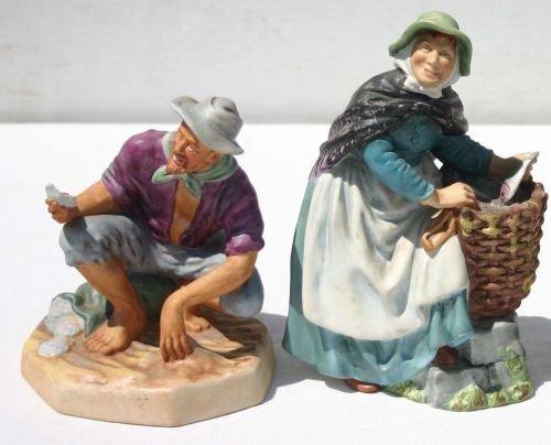 "9: 2 Royal Doulton matte glaze figurines - HN2671 ""Good"