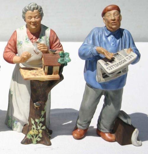 """10: 2 Royal Doulton matte glaze figures - HN2445 """"The P"""