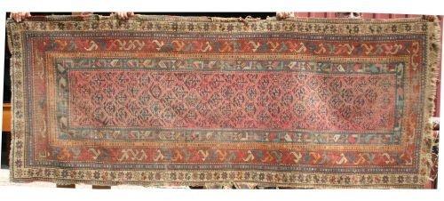 """14: 3'4""""x8'2"""" antique Persian Oriental corridor rug"""