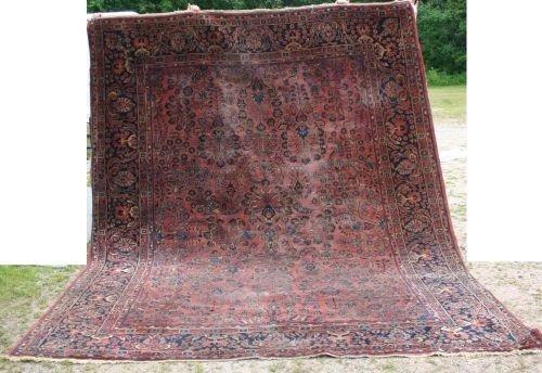 "15: 8'10""x11'8"" antique Sarouk rm size Oriental rug"