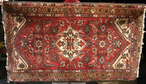 "16: 2'6""x4'2"" antique Hamadan Oriental area rug"