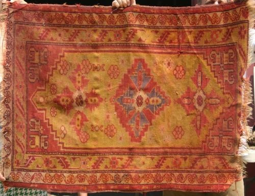 "18: 2'10""x3'8"" antique Turkish Oriental area rug"