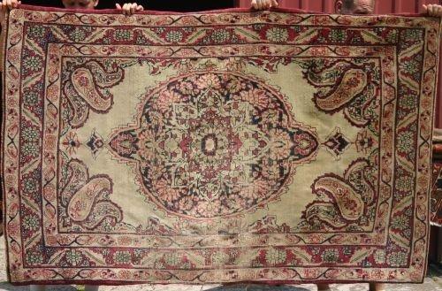 """20: 4'1""""x6'6"""" antique rug"""