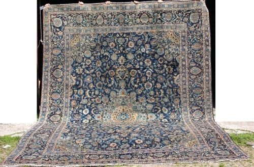"21: Fine 9'9""x13' semi-antique Persian Isphahan oversiz"