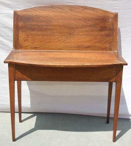 21C: Period Hepplewhite NH birch tapered leg card table