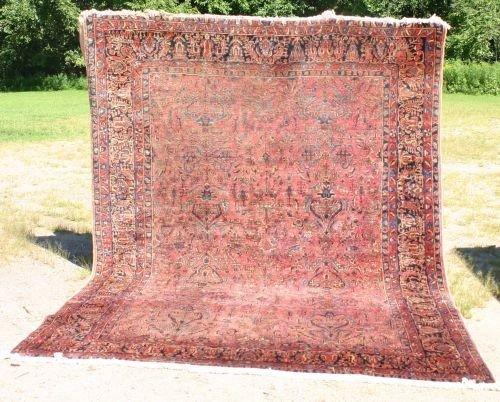 "2: 8'7""x11'5"" antique Sarouk Oriental rm size rug"