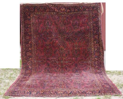 "5: 7'6""x10'8"" antique Sarouk Oriental rm size rug"