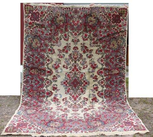 12: 7'x10' semi antique Kirman Oriental rm size rug