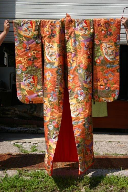13: excellent quality ca 1940's Japanese wedding Kimono