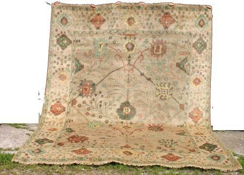 "21: Fine 9'5""x11'9"" Oushak Oriental rug"