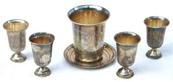 218: 1896-1904 Russian silver vodka set