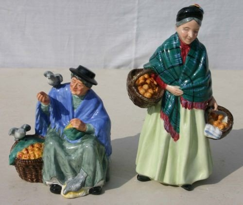 "8: 2 Royal Doulton figurines ""Tuppence a Bag"" HN 2320 &"