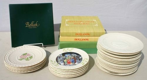 19: lot of 32 Belleek collector plates - some in orig b