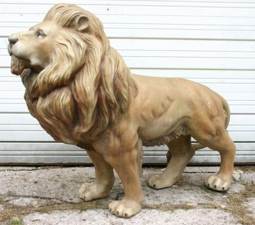 19A: Fabulous 1950's life size fiberglass Carnival Lion