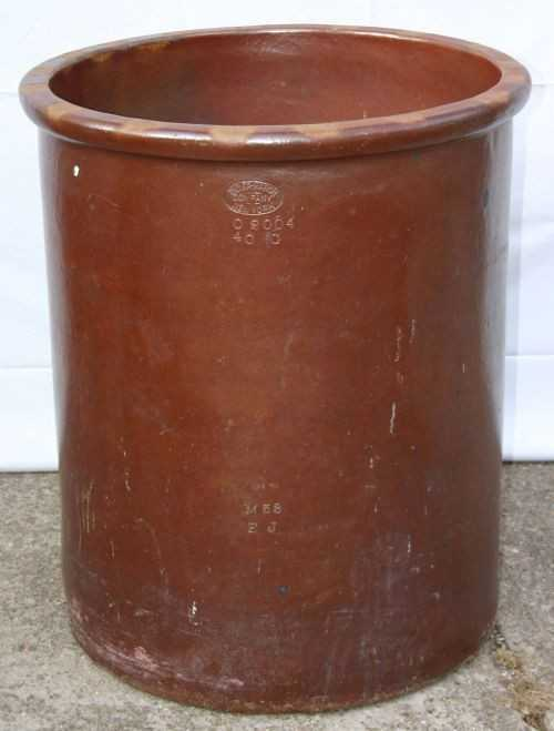 100 Huge Antique 40 Gallon Stoneware Crock By Didier M