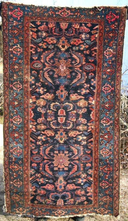 """18: 3'3""""x6' antique Oriental area rug"""