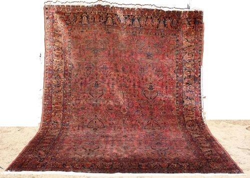"11: 8'8""x11'5"" Antique Sarouk room size Oriental Rug"