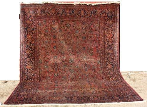 "14: 8'6""x11' antique room size Sarouk Oriental rug"