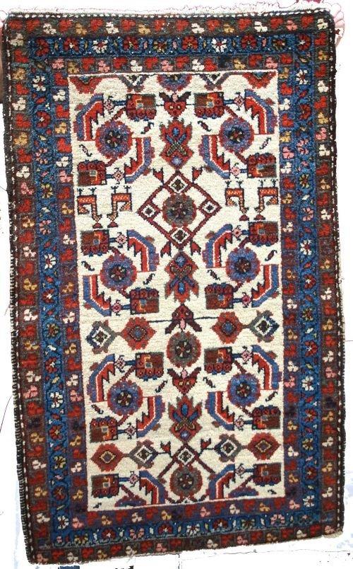 "17: 29""x48"" antique Hamadan Oriental rug"
