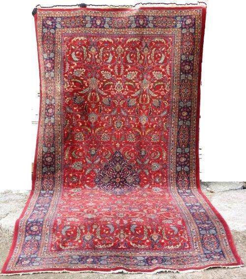 """18: 6'2""""x12'9"""" semi antique Persian Sarouk Oriental Rug"""