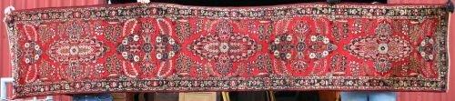 """19: 2'8""""x13'1"""" Antique Persian Lilihan Oriental Runner"""