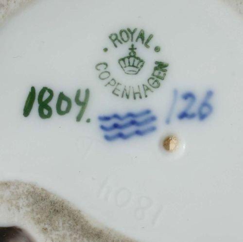 """252: Rare Royal Copenhagen #1804 """"Faun on Bear"""" porcela - 4"""